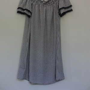 Off the shoulder checked dress